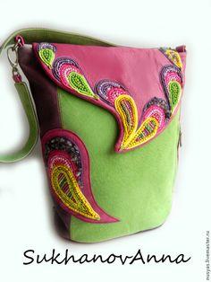 """Женские сумки ручной работы. Ярмарка Мастеров - ручная работа. Купить Сумка -рюкзак  """"Радуга"""". Handmade. Разноцветный, сумка трансформер"""