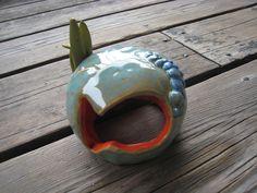 Ceramic Fish Cave - Betta Fish Hide - Aquarium Decoration - Goldfish Sculpture - Fish Tank Decoration - Tiny Animal House - Critter Hide by WhiteCitrus on Etsy