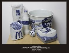 Slip cast ceramic.
