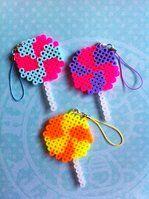 Lollipop Swirl Perler Bead by BlackOutDoll