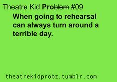 [ theatre kid problems ] Best part of you theather being your 2nd family