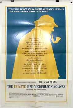 THE PRIVATE LIFE OF SHERLOCK HOLMES - ORIGINAL AMERICAN ONE SHEET MOVIE POSTER