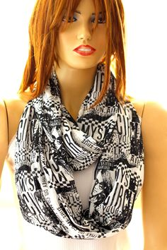 Hey, I found this really awesome Etsy listing at https://www.etsy.com/listing/123476719/newsaper-print-fashion-scarf-circle
