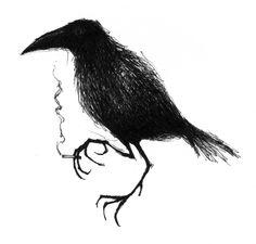 'smoking crow' by Hessel Canrinus
