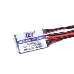 F17782/3 JMT High Quality RC Car 10A Brushed ESC Two Way Motor Speed Controller No/With Brake for 1/16 1/18 1/24 Car Boat Tank