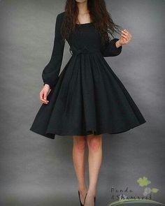 Little black dress))