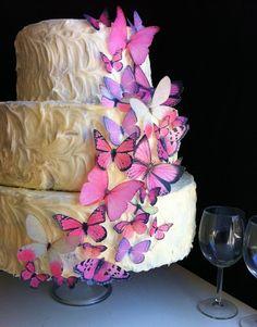 Sugar Butterfly Wedding Cake