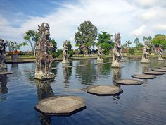 Water Palace, Tirta Gangga, Bali, Indonesia Beautiful Places In The World, Oh The Places You'll Go, Vacation Destinations, Vacation Spots, Le Palais, Palais Royal, Voyage Bali, Bali Fashion, Travel Wallpaper