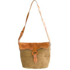 .:  Fair Trade Leather + Sisal Handbag  :.