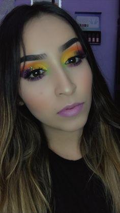 Tutorial en mi canal de youtube Halloween Face Makeup, Colorful Makeup