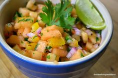 Cantaloupe Habanero Salsa - The View from Great Island