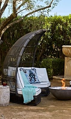 Your own secluded paradise. Within the deep recesses of an exotic woven canopy. | Frontgate: Live Beautifully Outdoors