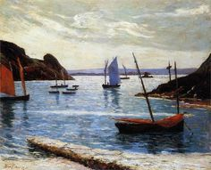 """Maxime Maufra (French, 1861-1918)  """"Isle of Brehat"""", 1892"""