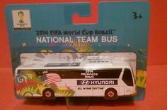 USA SOCCER NATIONAL TEAM BUS HYUNDAI UNIVERSE MAISTO FIFA WORLD CUP BRAZIL 2014