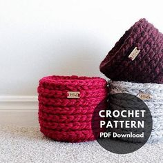 ***This is a CROCHET PATTERN and NOT a finished product.*** -The Mini Basket Pattern creates a cute basket that measures roughly 5.5 inches x 5.5 inches. -These baskets are great for storing supplies, treats, or even as a small plant holder. Skill Level: Advanced beginner Materials: •