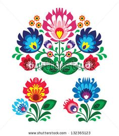 Polish floral folk embroidery pattern by RedKoala, via Shutterstock