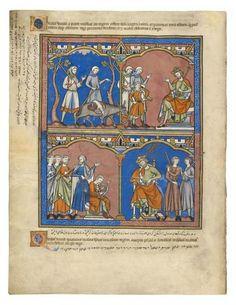 David Meets Saul; Soothing Music | Fol. 26v | The Morgan Library & Museum
