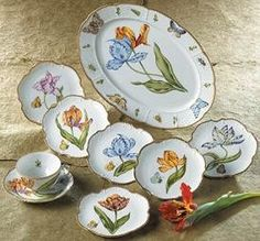 Anna Weatherley Old Master Tulips - would like to add the salad plates in this patter to my simply Anna.. If I don't add mottahedeh first!