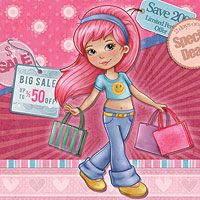 Shopping Girl - Digital Stamp *New Version The Paper Shelter, digital stamps, scrapbooking, crafts, dodles, cliparts, images resources, craft supplies & Digital Papers for all your needs.