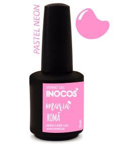 Verniz de Luxo - Inocos Verniz Gel 15ml Maria Romã (Rosa Pastel Neon)