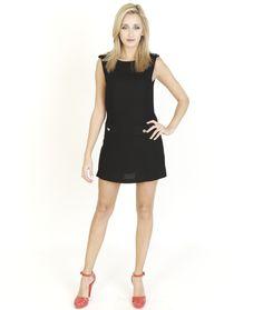 Black Dresses - Pocket Front Jersey Black Dress - http://www.blackdresses.co.uk