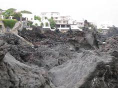 Stromboli lava rocks