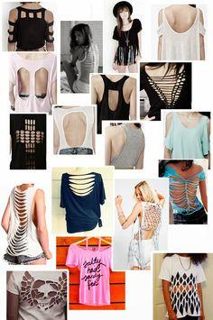 Diferentes tipos de corte para customizar Camisetas