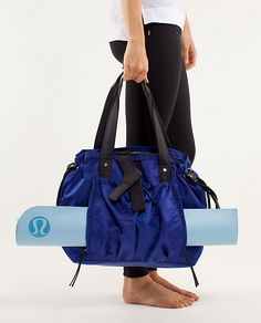 Lululemon - Om Tote  Has a gazillion inside pockets - LOVE this bag!!  I would love this for a work bag.  $128CAD