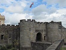 Stirling Castle in Stirling, Scotland, where Mary Queen of Scots was crowned.