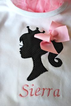 Vintage Barbie Applique Ruffle Shirt. $25.00, via Etsy.