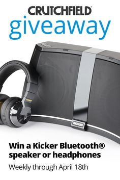 I entered the @Crutchfield Sweeps to win 1 of 10 Kicker prizes. You can too – #GGGEntry #win