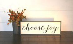 Choose Joy sign  rustic handpainted wood by WahlToWallWordLove
