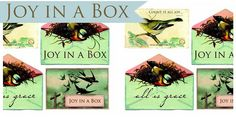 Joy In A Box - printables and ideas from Ann Voskamp at www.aholyexperience.com