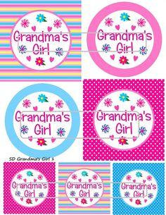 DIY Printable Grandma's Girl 1 Shrinky Dinks Digital by MaddieZee, $1.25