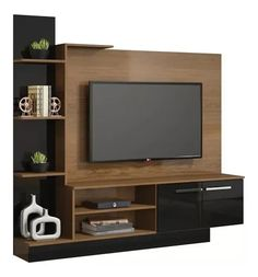 Muebles Rack Tv, Media Wall, Tv Unit, Wall Design, Living Room Designs, Home Furniture, Family Room, Sweet Home, New Homes