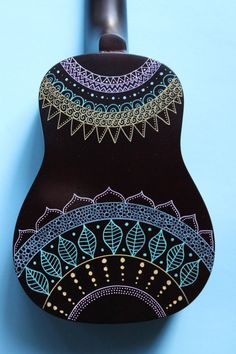 Zentangle-Inspired Painted Ukulele by UkuLeeShee on Etsy