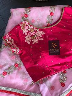 Best 12 Stunning green color designer blouse with hand embroidery gold thread work. Hand Work Blouse Design, Half Saree Designs, Pattu Saree Blouse Designs, Simple Blouse Designs, Stylish Blouse Design, Fancy Blouse Designs, Bridal Blouse Designs, Blouse Neck Designs, Aari Work Blouse
