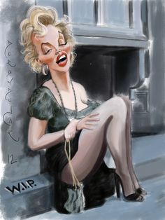 Marilyn Monroe..FOLLOW THIS BOARD FOR GREAT CARICATURES OR ANY OF OUR OTHER CARICATURE BOARDS. WE HAVE A FEW SEPERATED BY THINGS LIKE ACTORS, MUSICIANS, POLITICS. SPORTS AND MORE...CHECK 'EM OUT!! HERE ---->  http://www.pinterest.com