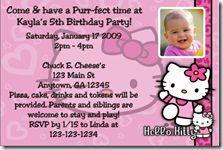 Hello kitty birthday invitations ggg pinterest hello kitty hello kitty birthday party invitations filmwisefo