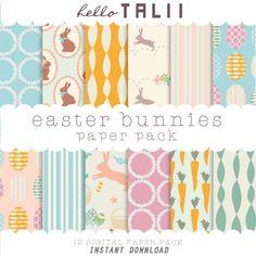 #Easter Bunnies #Digital #Paper. Download here: http://luvly.co/items/4447/Easter-Bunnies-Digital-Paper