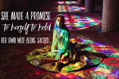 She made a promise to herself to hold her own well-being SACRED..and she never…