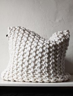Crochet pillow case/something like this with a long shoulder strap would make a great bag.