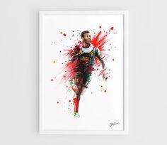 Daniel Sturridge Liverpool FC A3 Wall Art Print by NazarArt