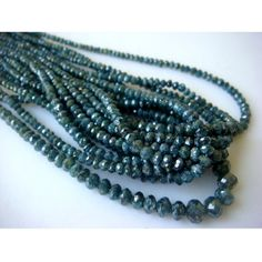 Blue Diamonds  Rough Blue Faceted Diamond Beads  by gemsforjewels, $1384.60