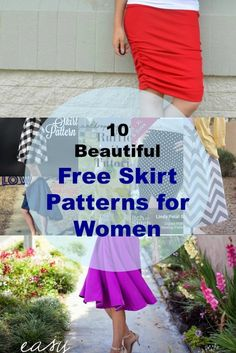 10 Free Skirt Patterns for every occasion: Get access to 10 of the most beautiful skirt patterns. All free! On the cutting floor: Instant PDF patterns