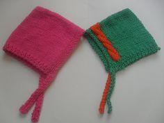 Hand knit newborn hatClassic BonnetCotton by StephanDesign on Etsy, $16.25