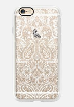 Casetify iPhone 7 Case and Other iPhone Covers -  Paisley White by Aimee St Hill | #Casetify