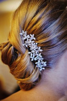 Gorgeous french twist with a stunning hair comb
