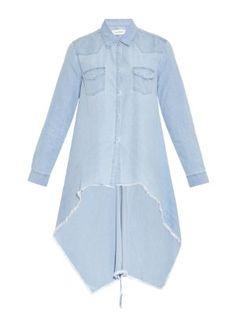 Frayed-hem asymmetric denim shirt | Marques'Almeida | MATCHESFASHION.COM US