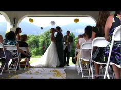 Destination mountain wedding video.  Lake Lure, NC.  WNC Video Productions with Camilla Calnan Photography.